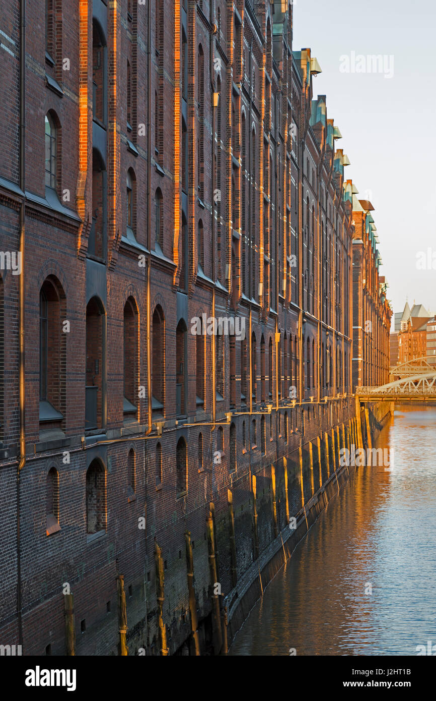Stock photo hamburg germany riverside new - Historic Speicherstadt Warehouse District Hafencity Hamburg Germany Europe Stock Image