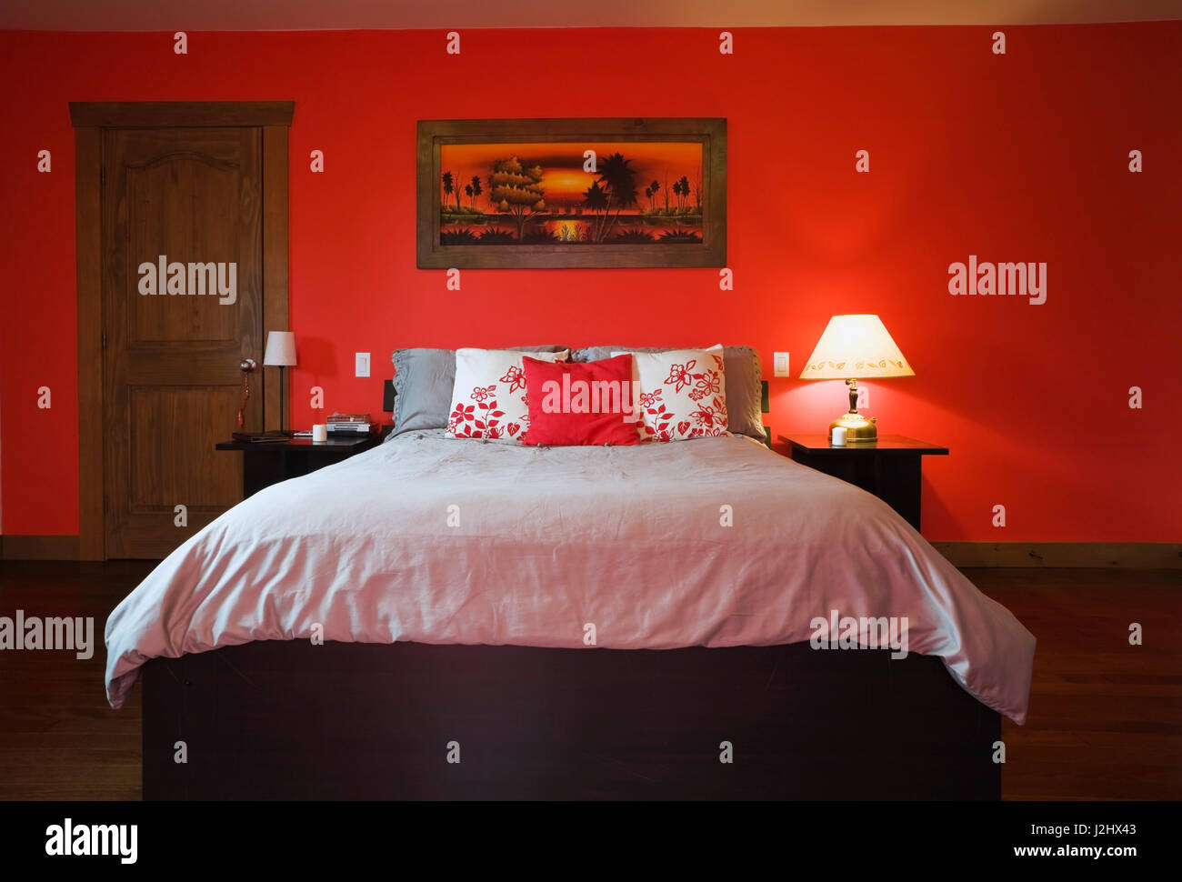 Red Painted Rooms home interior bedroom bright red stock photos   home  interior. Red Painted Rooms 10 Rooms With Red Walls Red Bedroom And Living