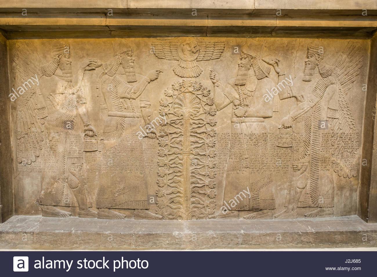 Nimrud british museum stock photos