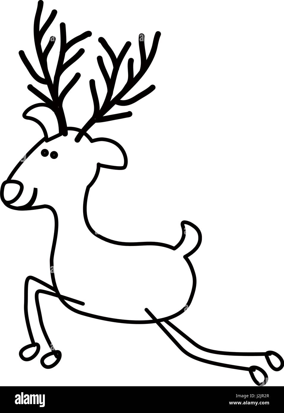 reindeer black and white stock photos u0026 images alamy