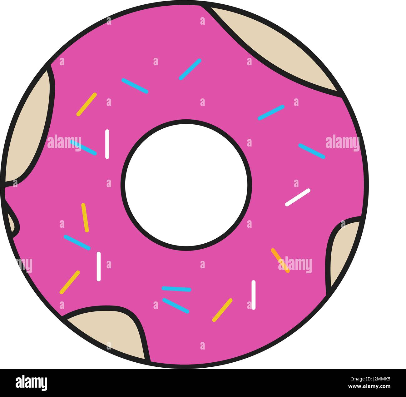 Cartoon Doughnut Factory: Doughnut Stock Vector Images