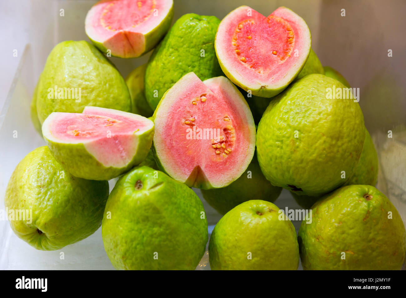 Guava Fruits On Display At A Fresh Market In Taiwan Stock Image