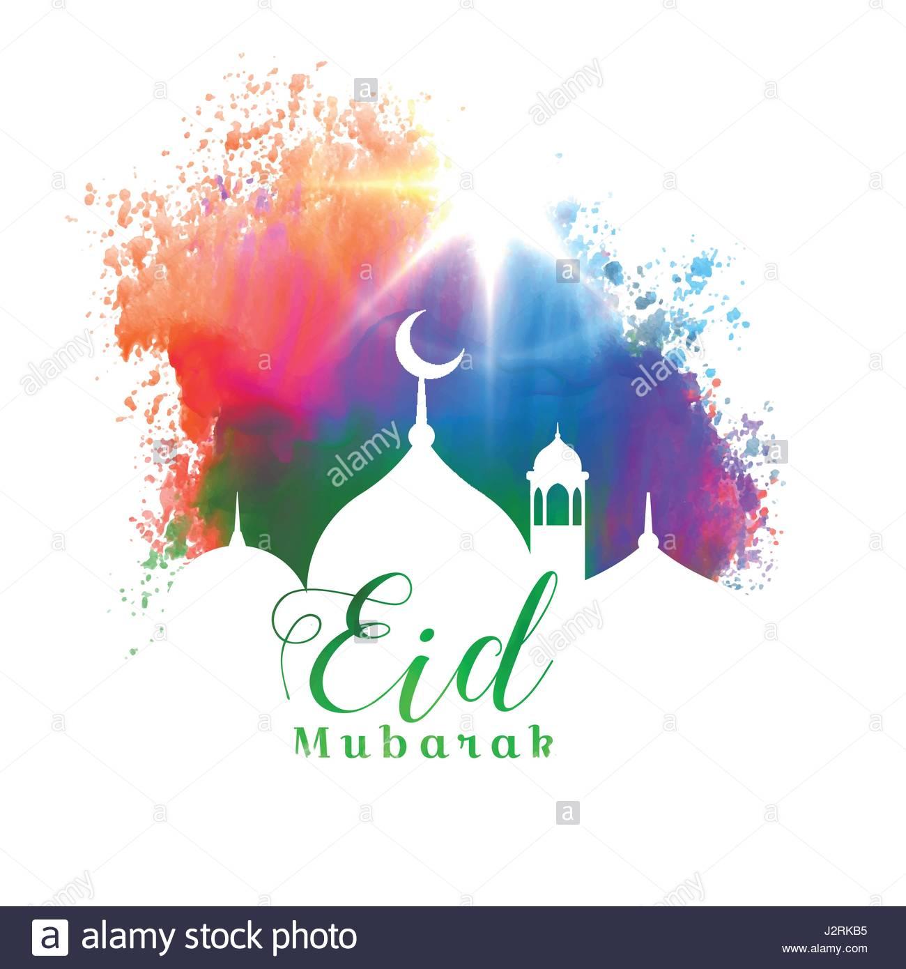 Beautiful eid mubarak islamic festival greeting card design stock beautiful eid mubarak islamic festival greeting card design m4hsunfo