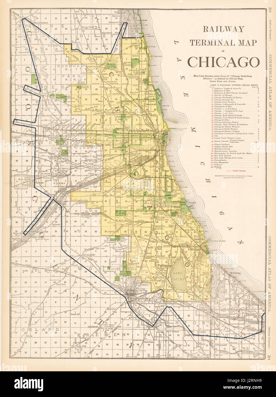 Map Of Chicago Stock Photos  Map Of Chicago Stock Images Alamy - Chicago terminal map