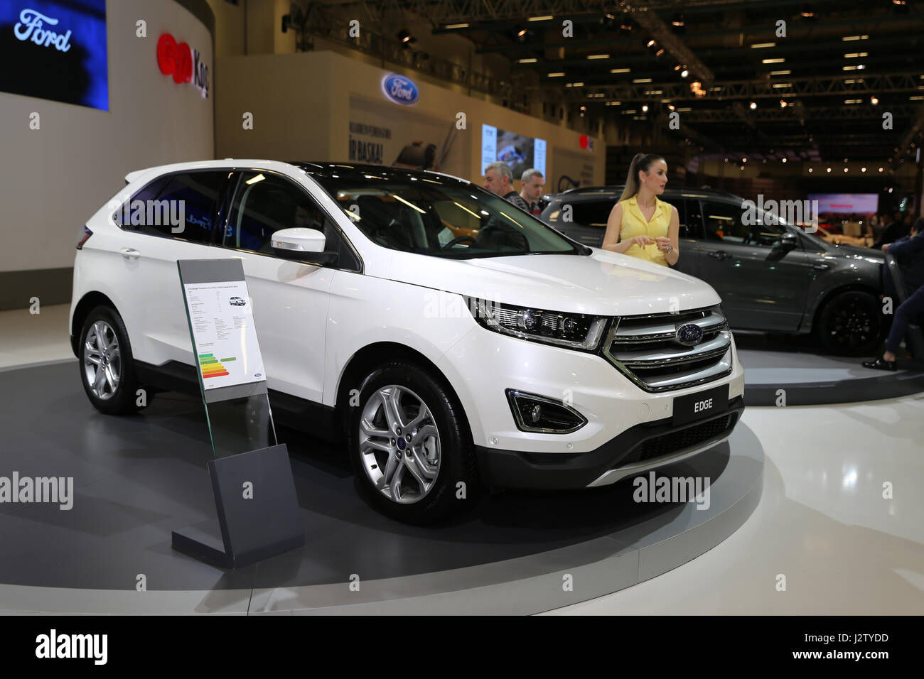 Istanbul turkey april 22 2017 ford edge on display at autoshow istanbul