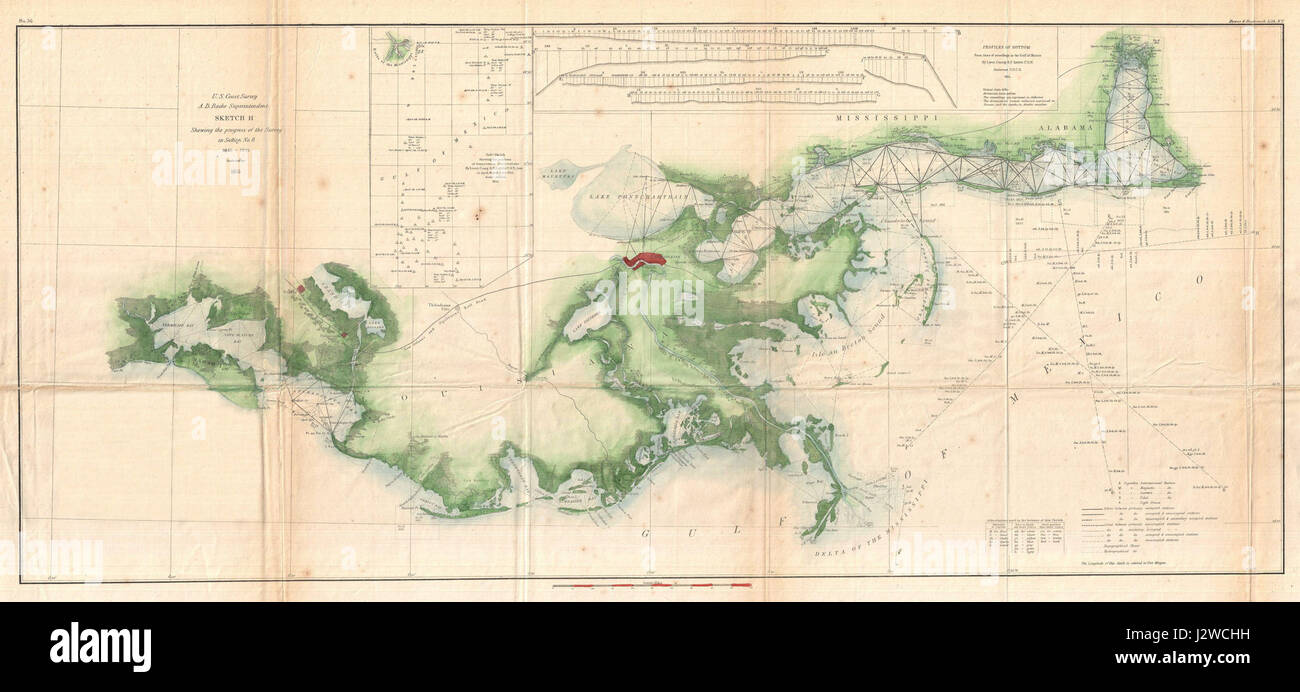 1855 U S Coast Survey Map Of The Delta Of The Mississippi River Geographicus Gulfcoast