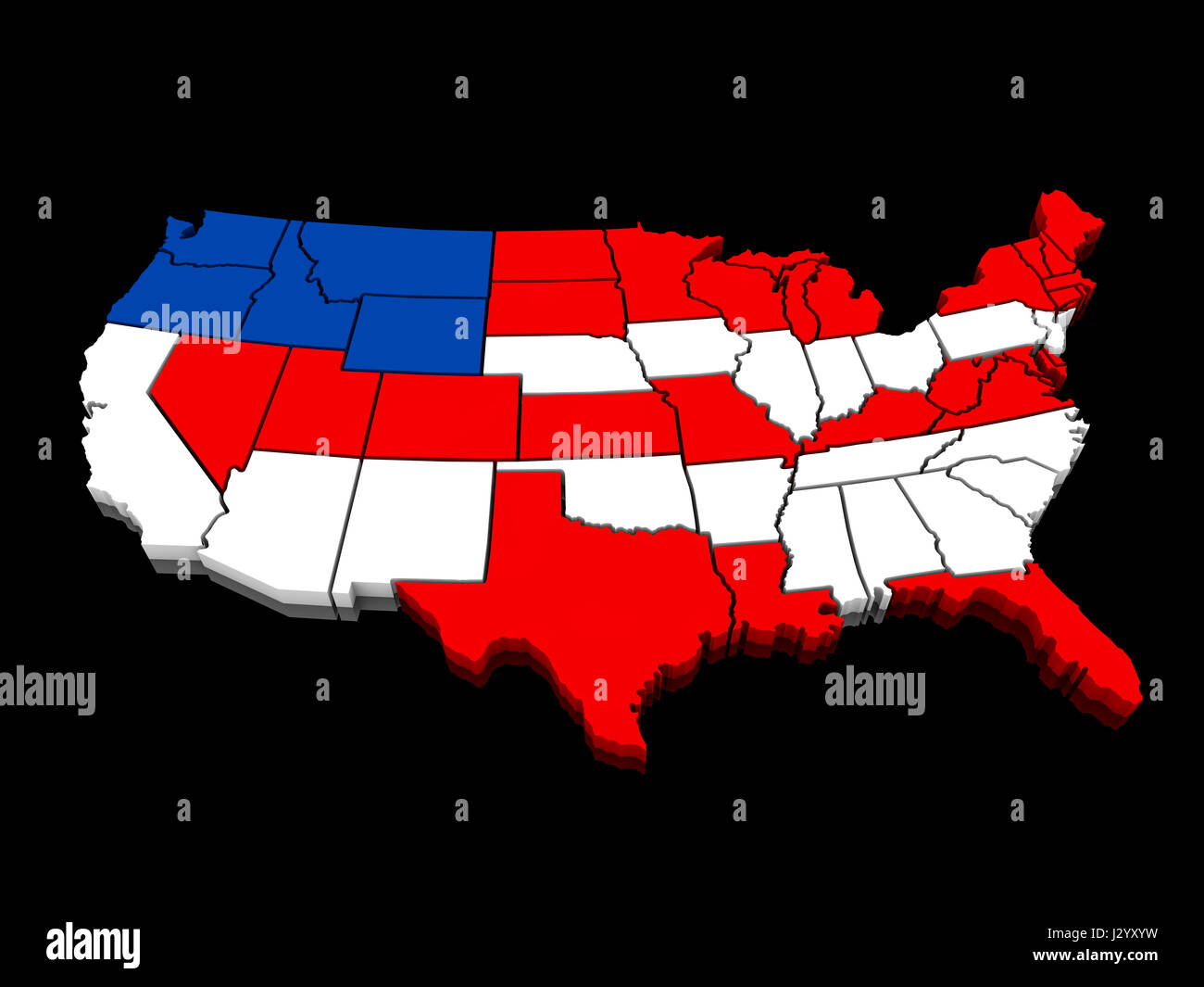 D Map United States Stock Photos  D Map United States Stock - 3d map usa states