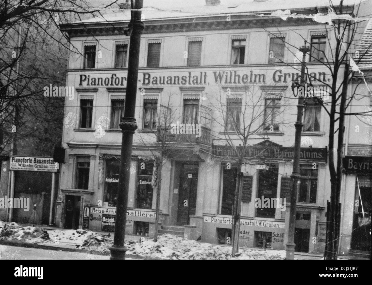 Berlin steglitz schlossstr 96 1914 stock image