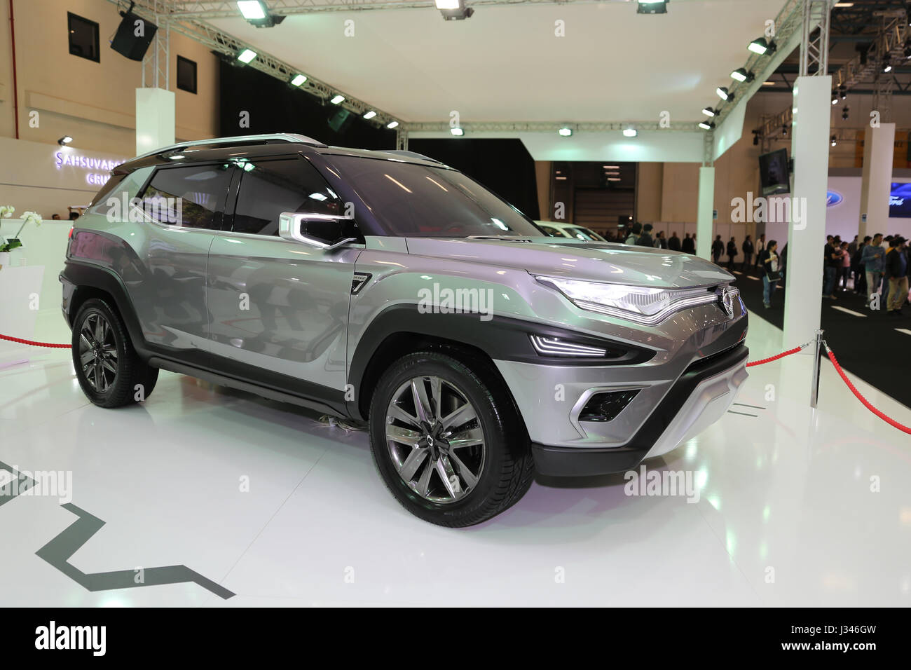 Istanbul turkey april 22 2017 ssangyong xavl concept on display at autoshow