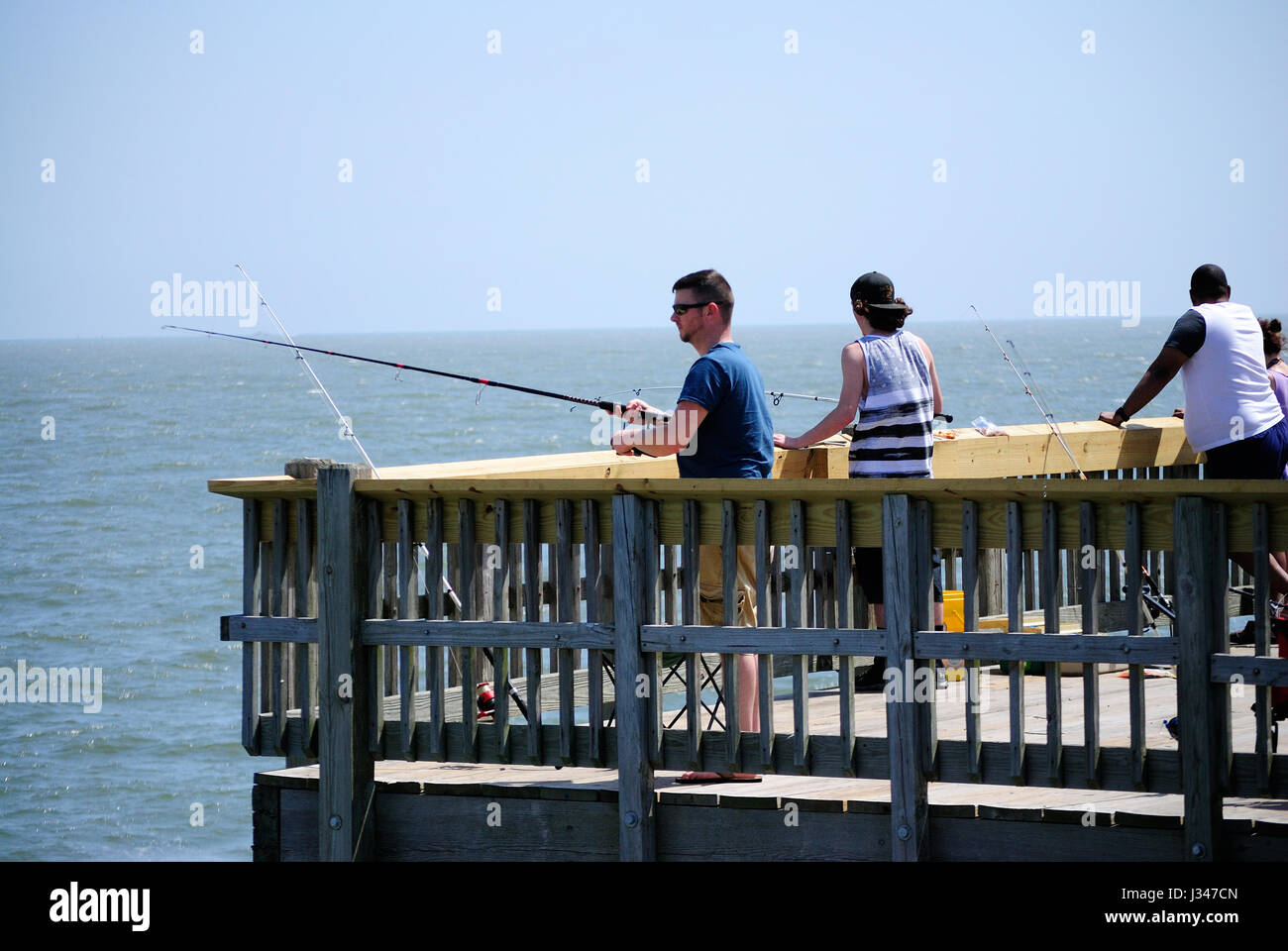 Deep sea fishing bait stock photos deep sea fishing bait for Tybee island fishing pier