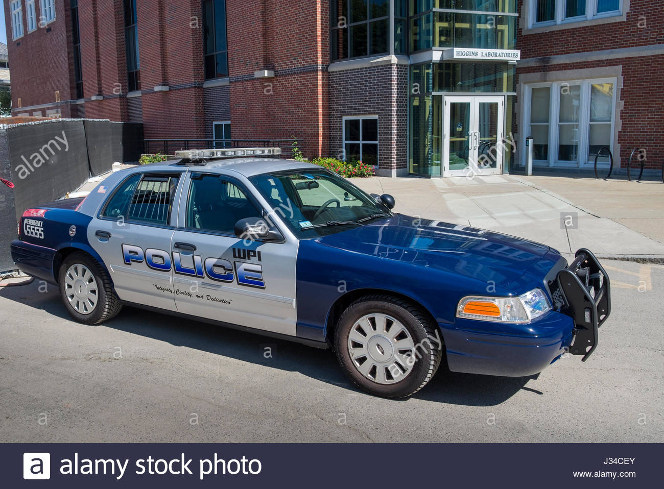 Ford wpi police sedan on the campus of worcester polytechnic institute worcester worcester county