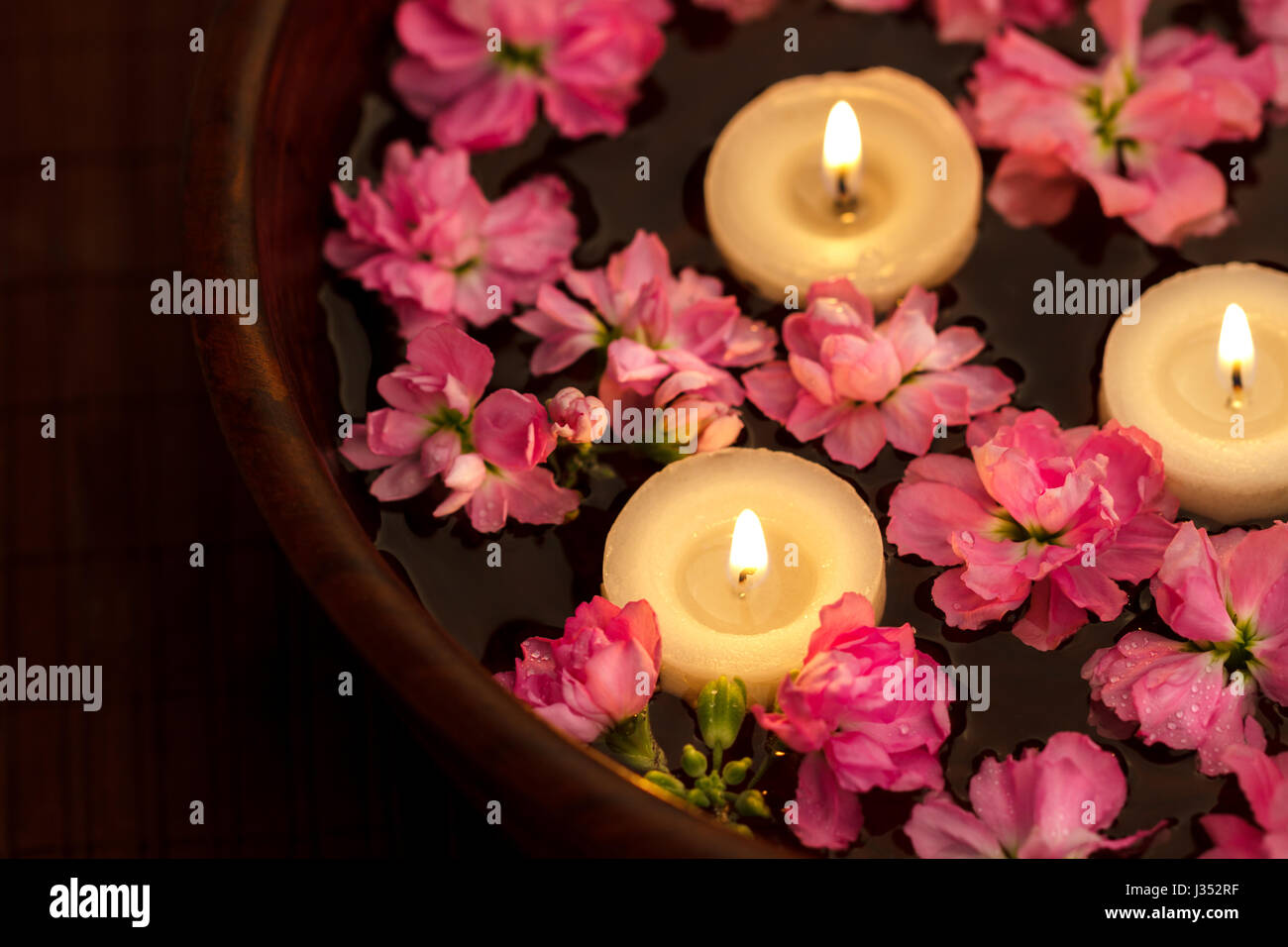 Floating Candles Bowl Stock Photos  Floating Candles Bowl Stock