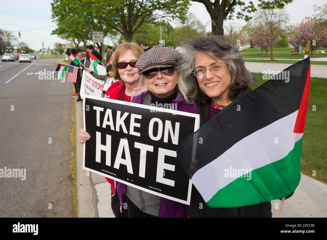 Uk muslims press for peace at 10 downing street - Dearborn Michigan Usa 3rd May 2017 Members Of Jewish Voice For