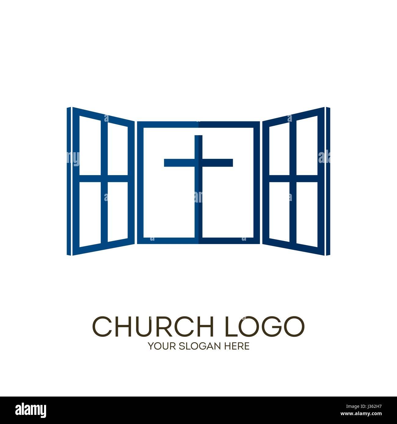 Church Logo Christian Symbols God Gives Us A Window Into The World