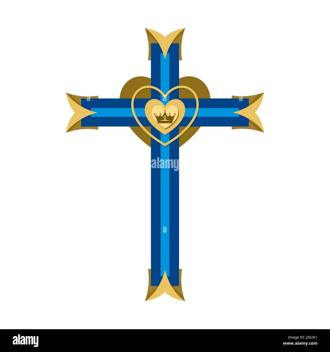 Christian Symbol Cross Of The Lord And Savior Jesus Christ Stock