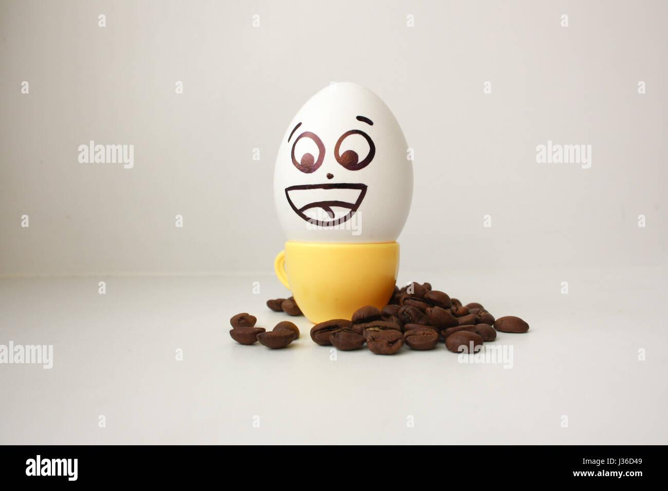 Smiley Face Coffee Mug Egg Cup Face Stock Photos Egg Cup Face Stock Images Alamy