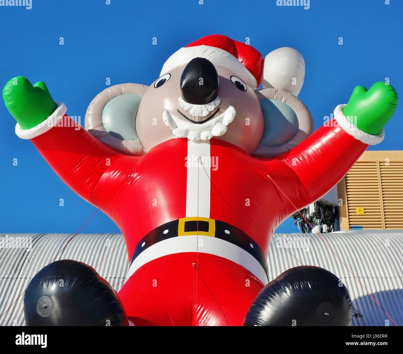 Christmas Lights Shop Charnock Richard: Australian Santa Claus Stock Photos & Australian Santa