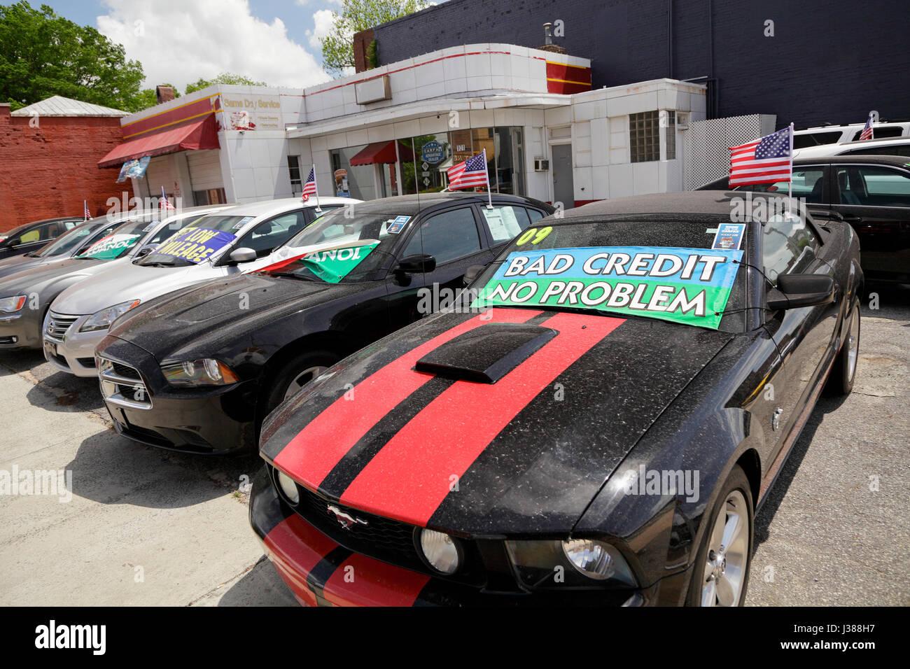 Used cars for sale north carolina usa stock image