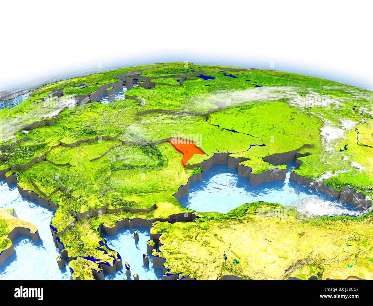 Country Of Moldova On Model Of Earth 3d Illustration Elements Of This  Image Furnished