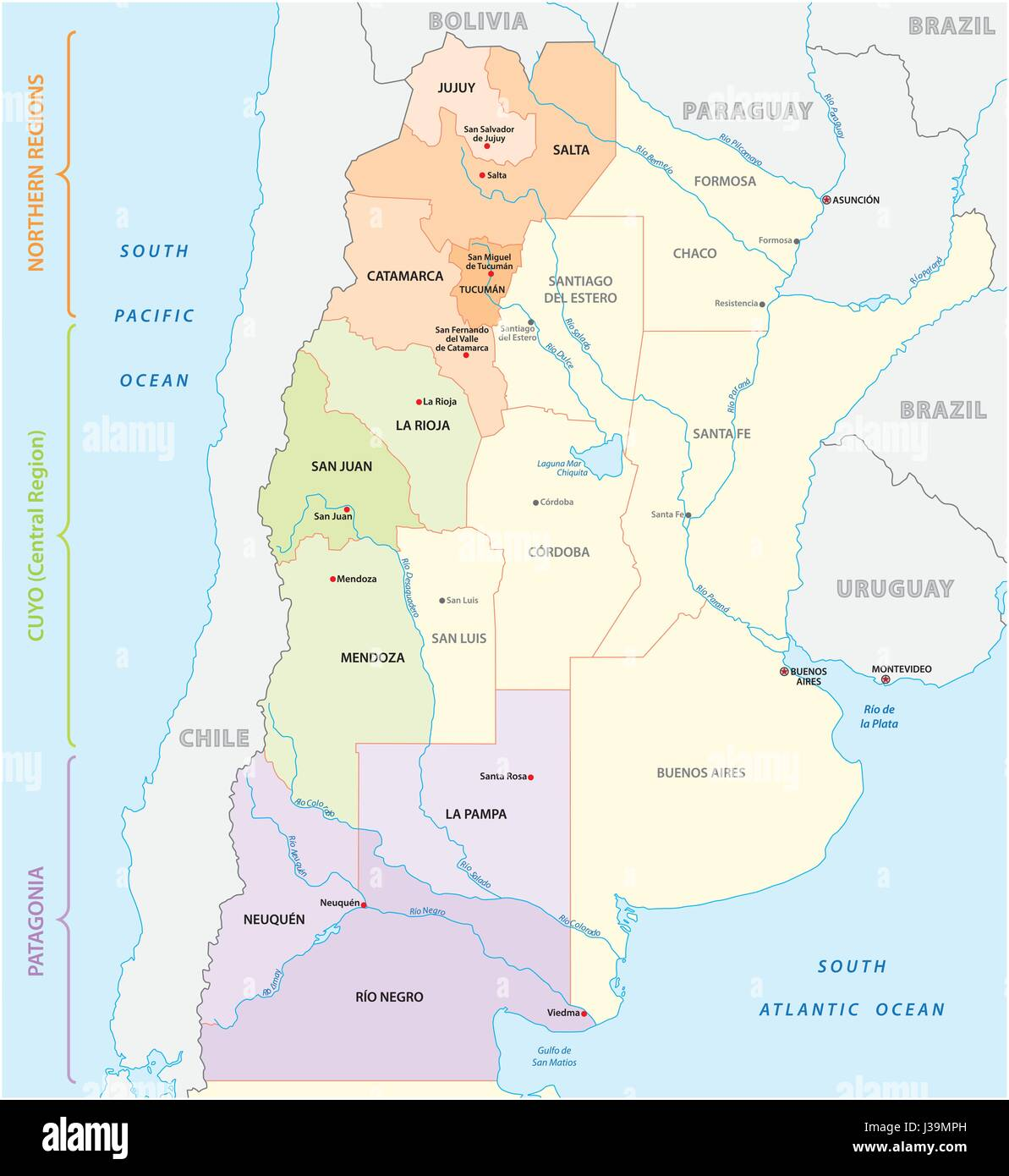 Northern Paraguay Stock Photos  Northern Paraguay Stock Images - South america map gran chaco
