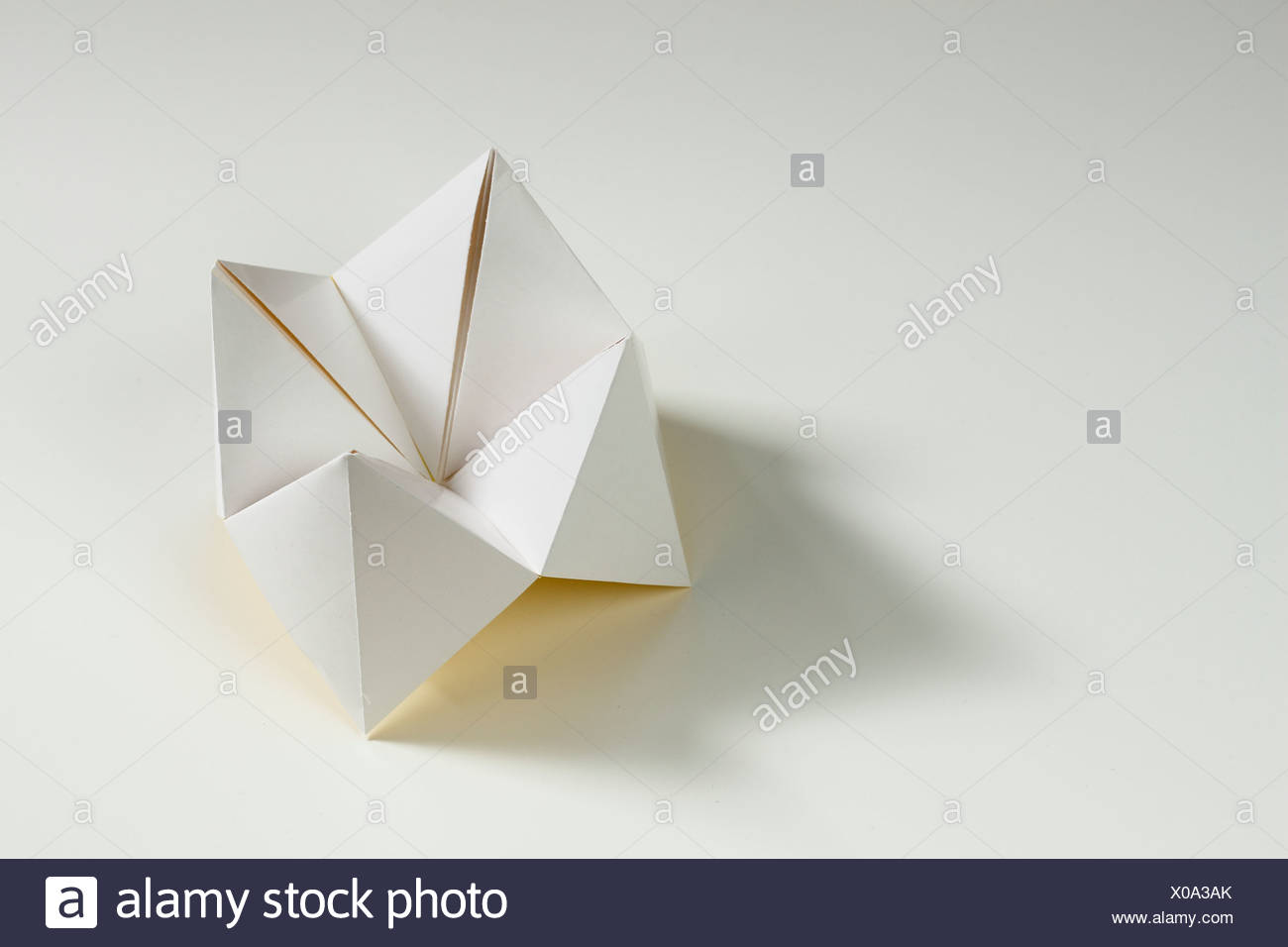 Paper fortune teller game stock photos paper fortune teller game origami fortune teller on white background stock image jeuxipadfo Images