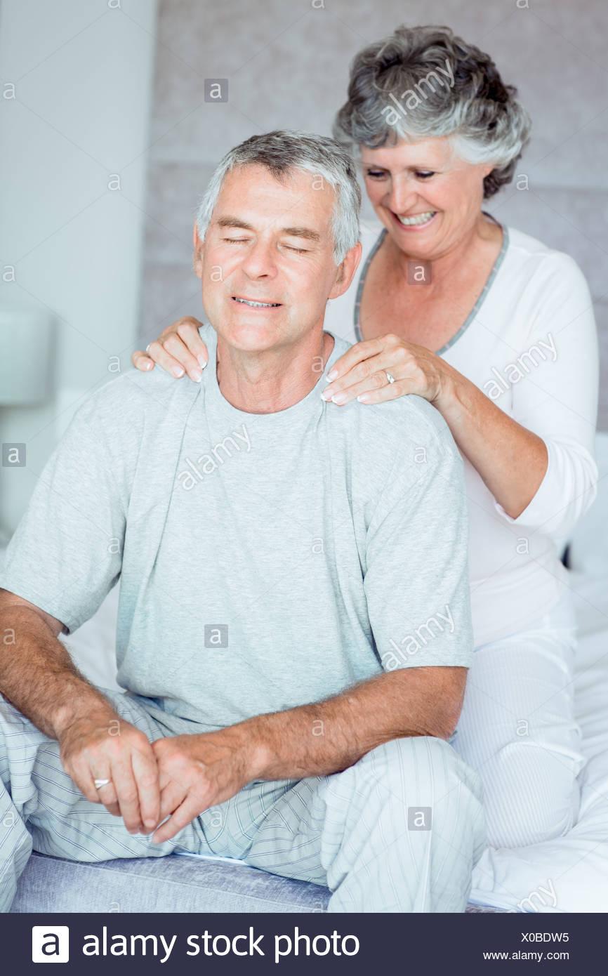 mature Giving woman massage