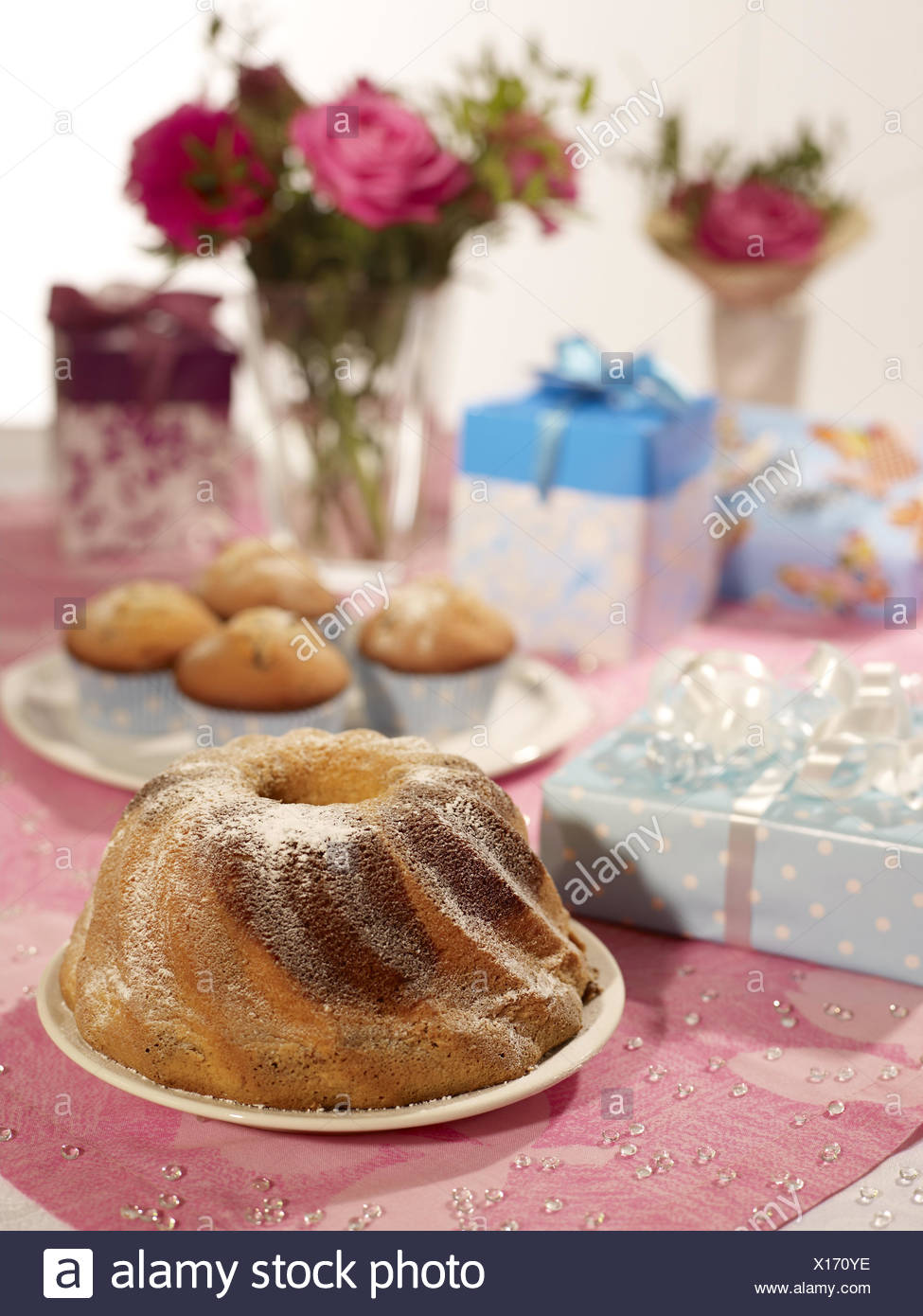 Birthday Cakes Muffin Presents Flowers Cakes Marble Cakes