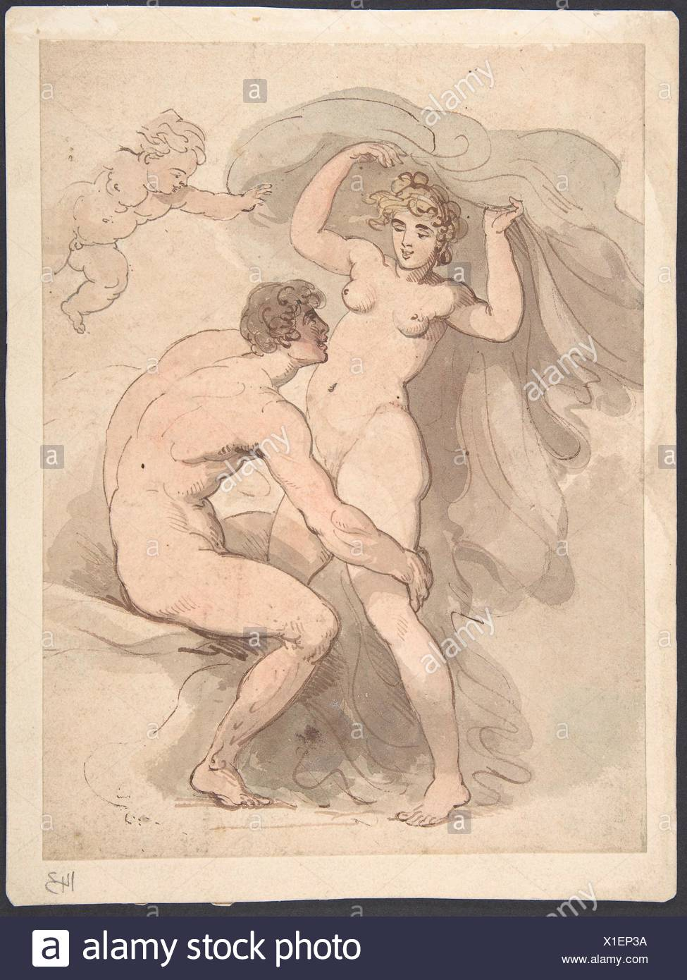 Artist: Thomas Rowlandson (British, London 1757-1827 London); Date:  1780-1827; Medium: Watercolor; Dimensions: Sheet: 8