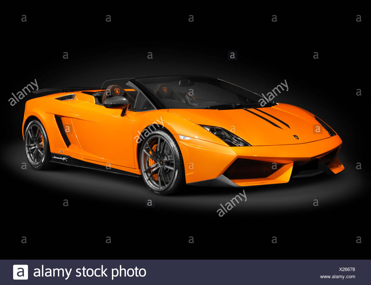 Orange Lamborghini Gallardo LP570 4 Spyder Performante   Stock Image