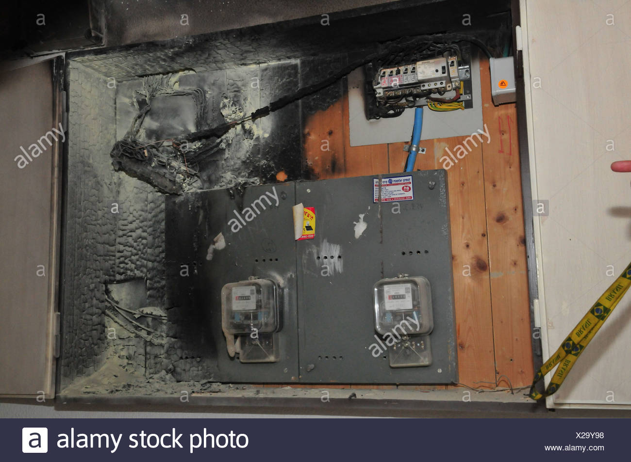 A Fire Broke Out In Household Electrical Fuse Box Flames Consumed How Can I Take The Board Burnt Photographed Israel