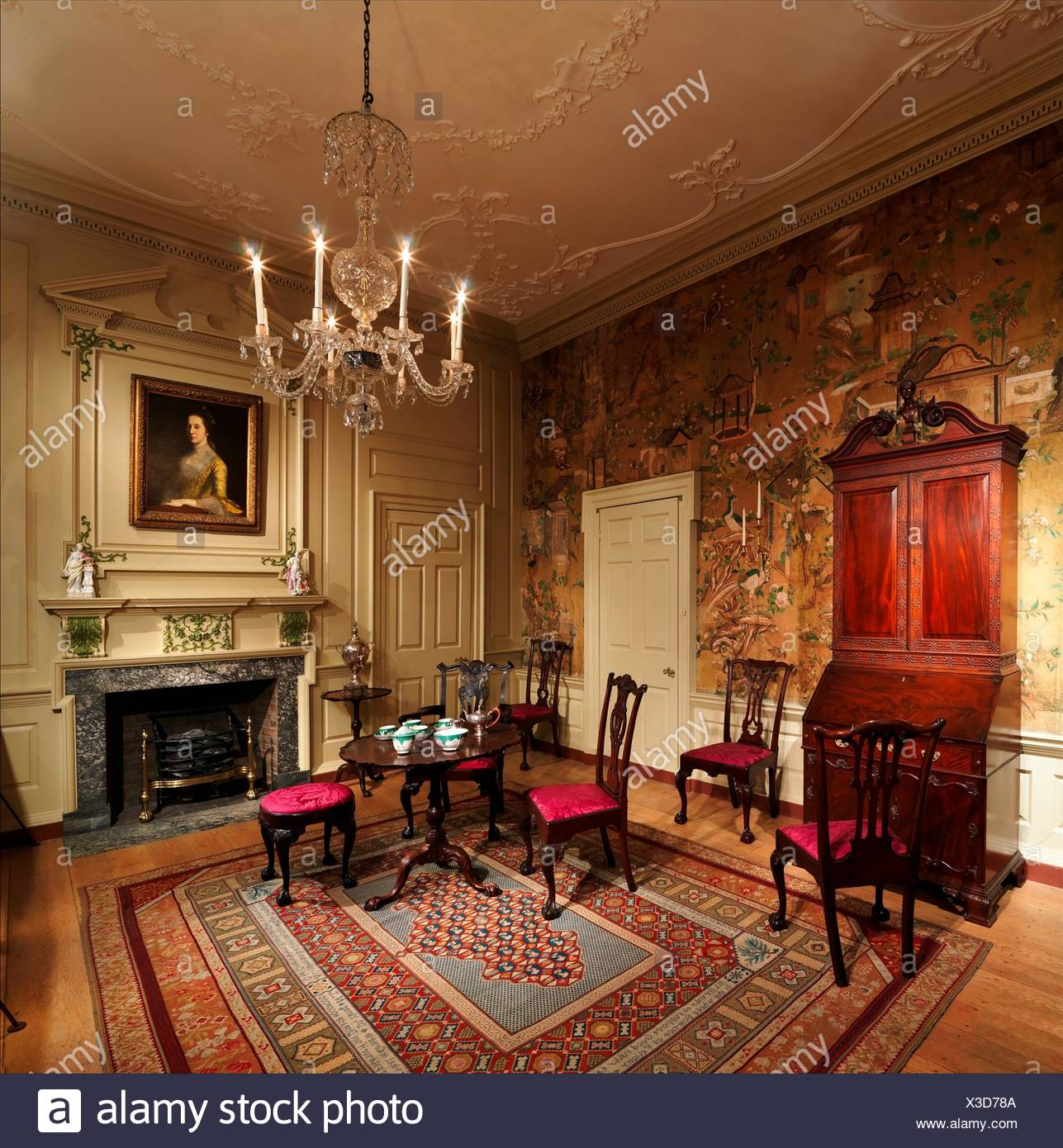 Room From The Powel House, Philadelphia. Date: 1765 66, Remodeled 1769 71;  Geography: Made In Philadelphia, Pennsylvania, United States; Culture: