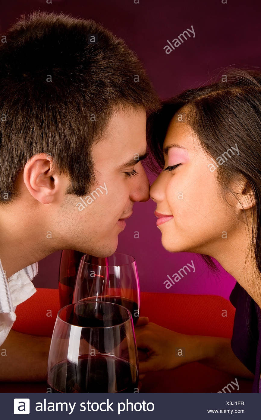 Woman Wine Kiss Romance Love In Love Fell In Love Kissing Couple Pair