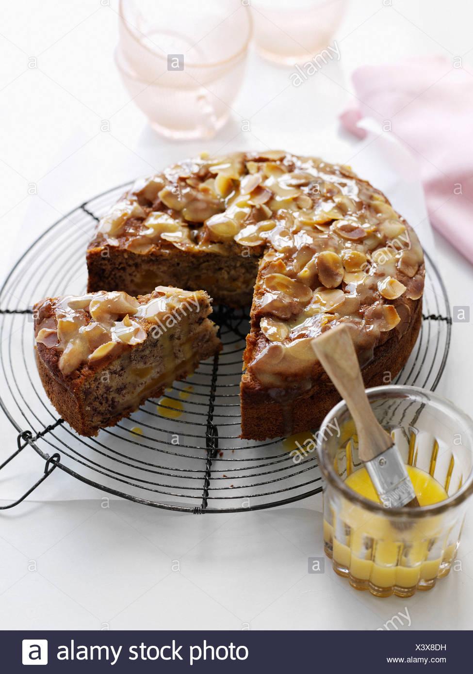 Cranberry Cake with Almond Glaze pics