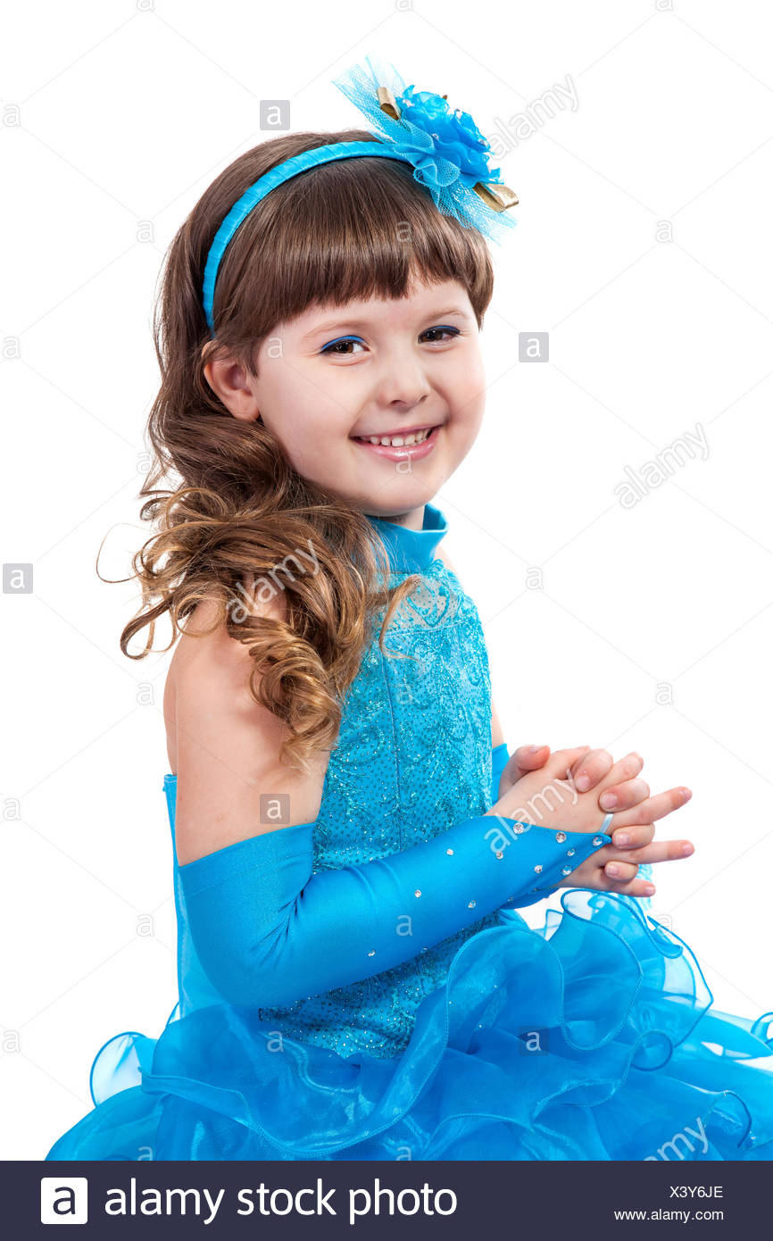 75b7a440718a Portrait of cute smiling little girl in princess dress Stock Photo ...