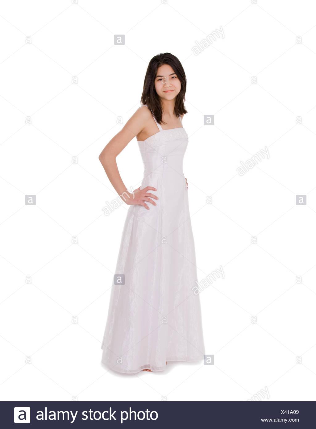 Question interesting, Teen model white dress join
