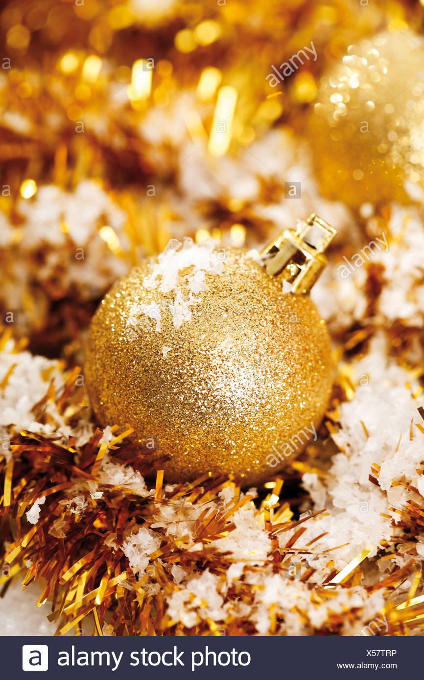 Christbaumschmuck Gold Glitter Modeschmuck