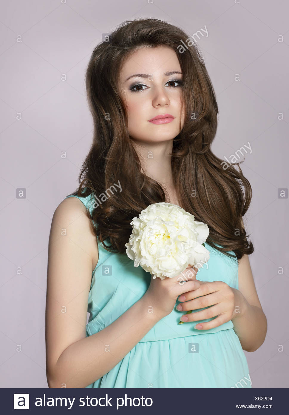 Very young teen girl flower