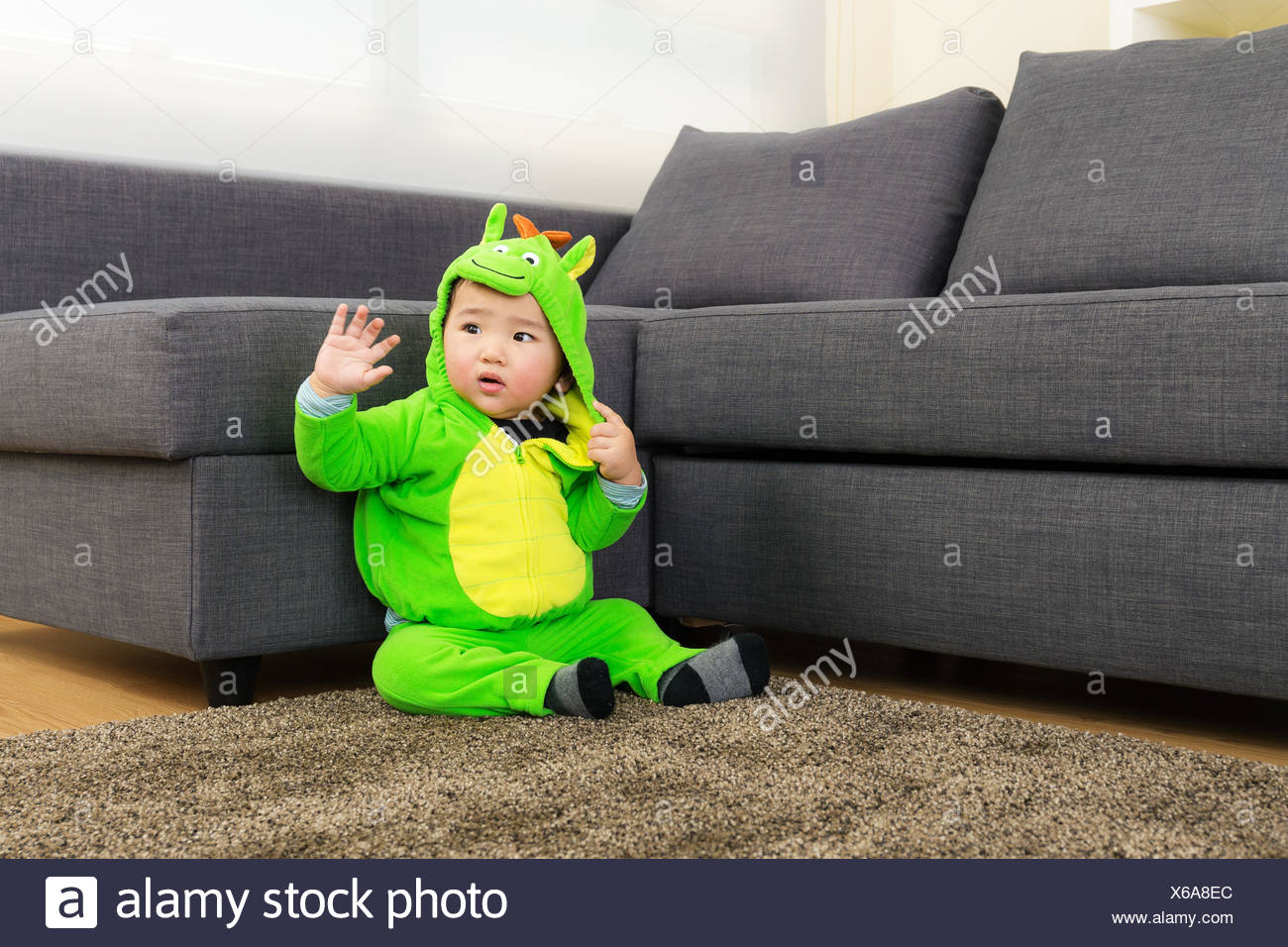 baby with dinosaur halloween party costume stock photo: 279280020