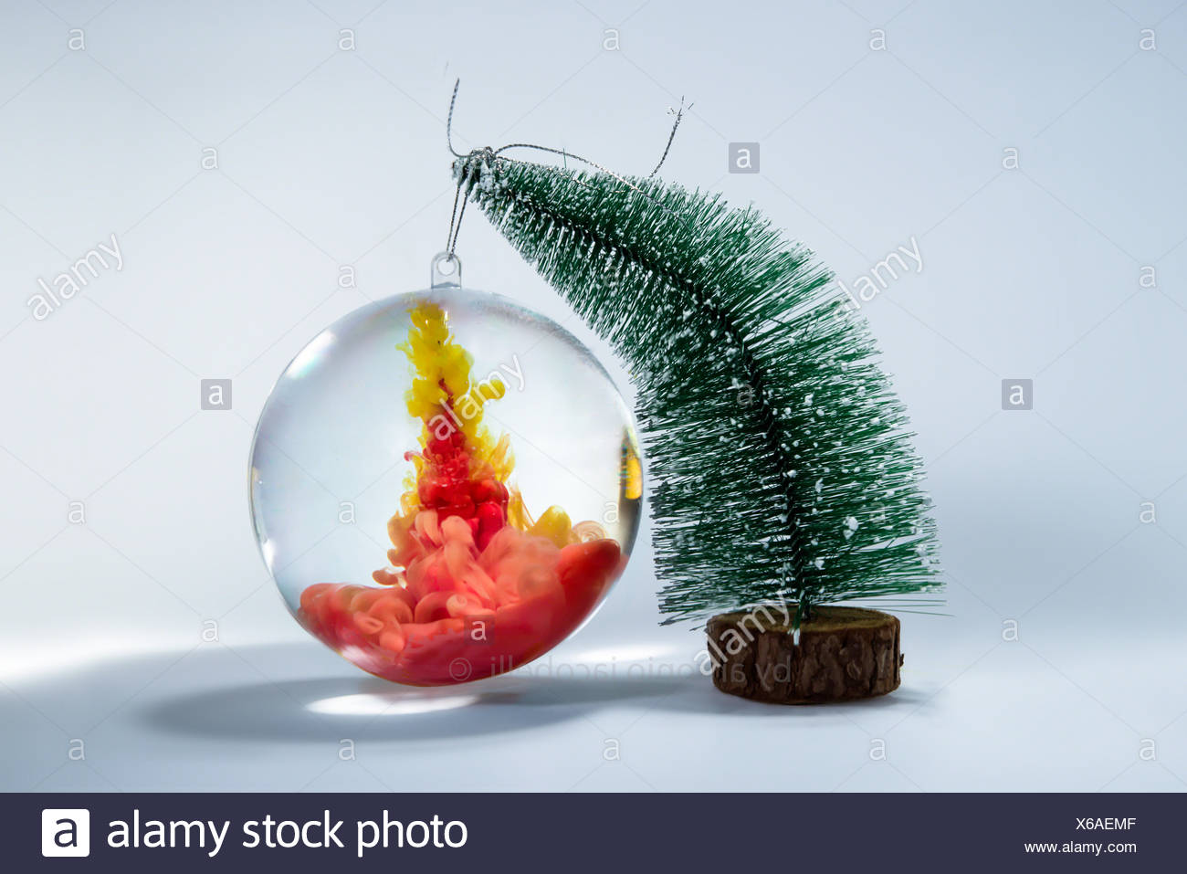 Acrylic christmas tree bauble fun fonts