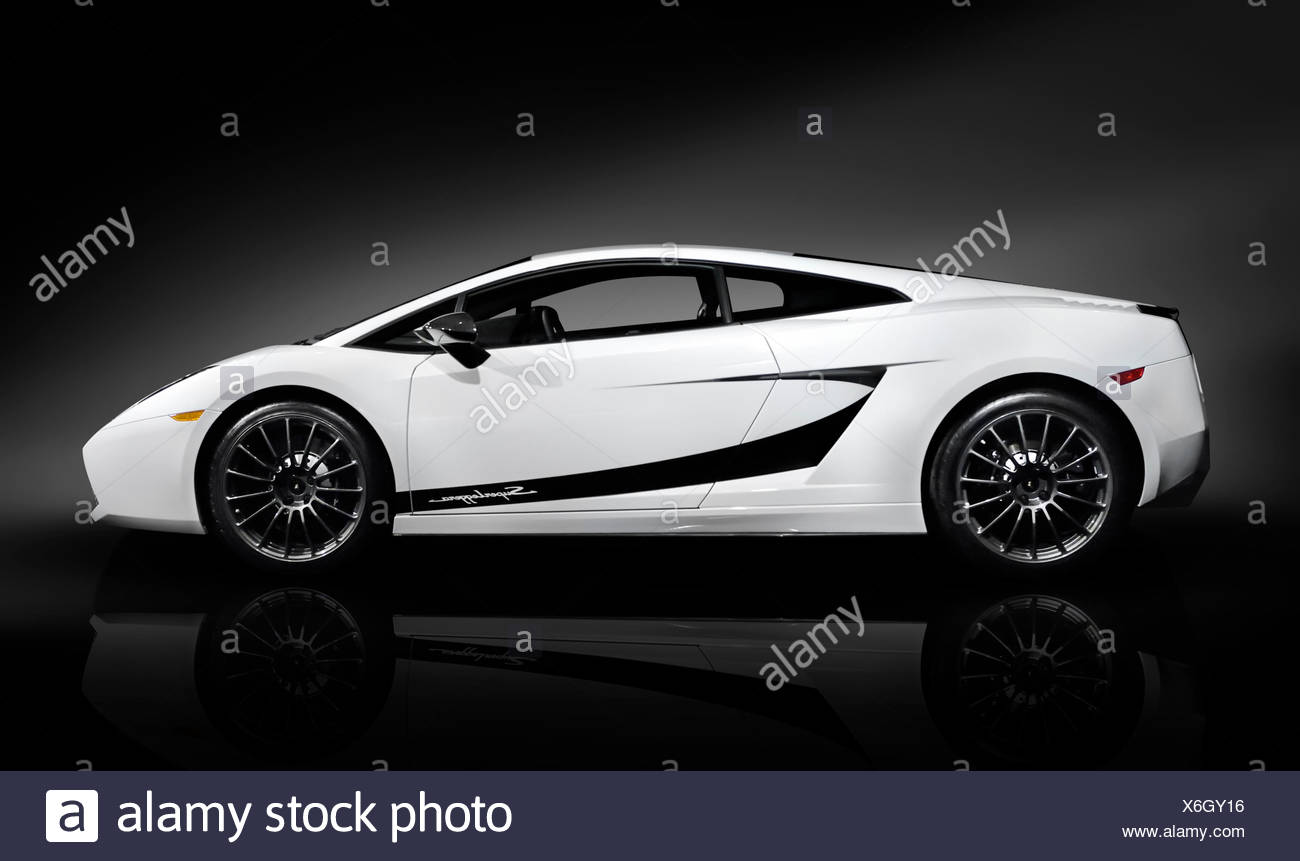 Lamborghini Gallardo Superleggera 2007 Super Car Isolated On Black  Background   Stock Image