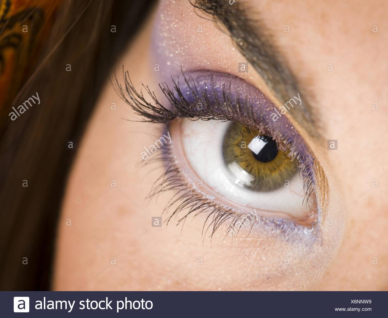 Makeup eye purple close up photo new photo