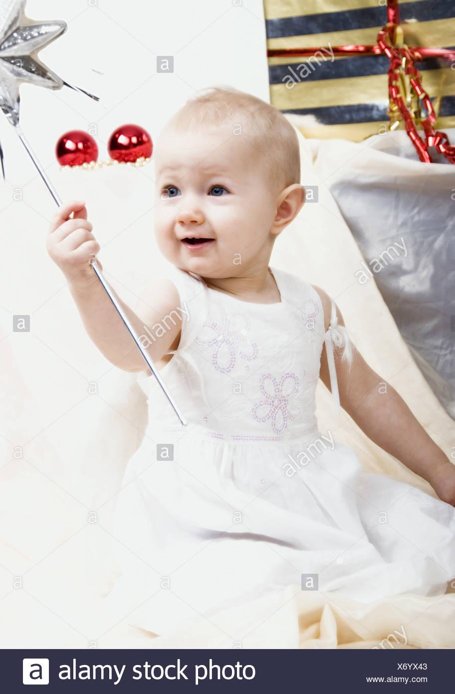 baby as an christmas angel Stock Photo: 279667027 - Alamy