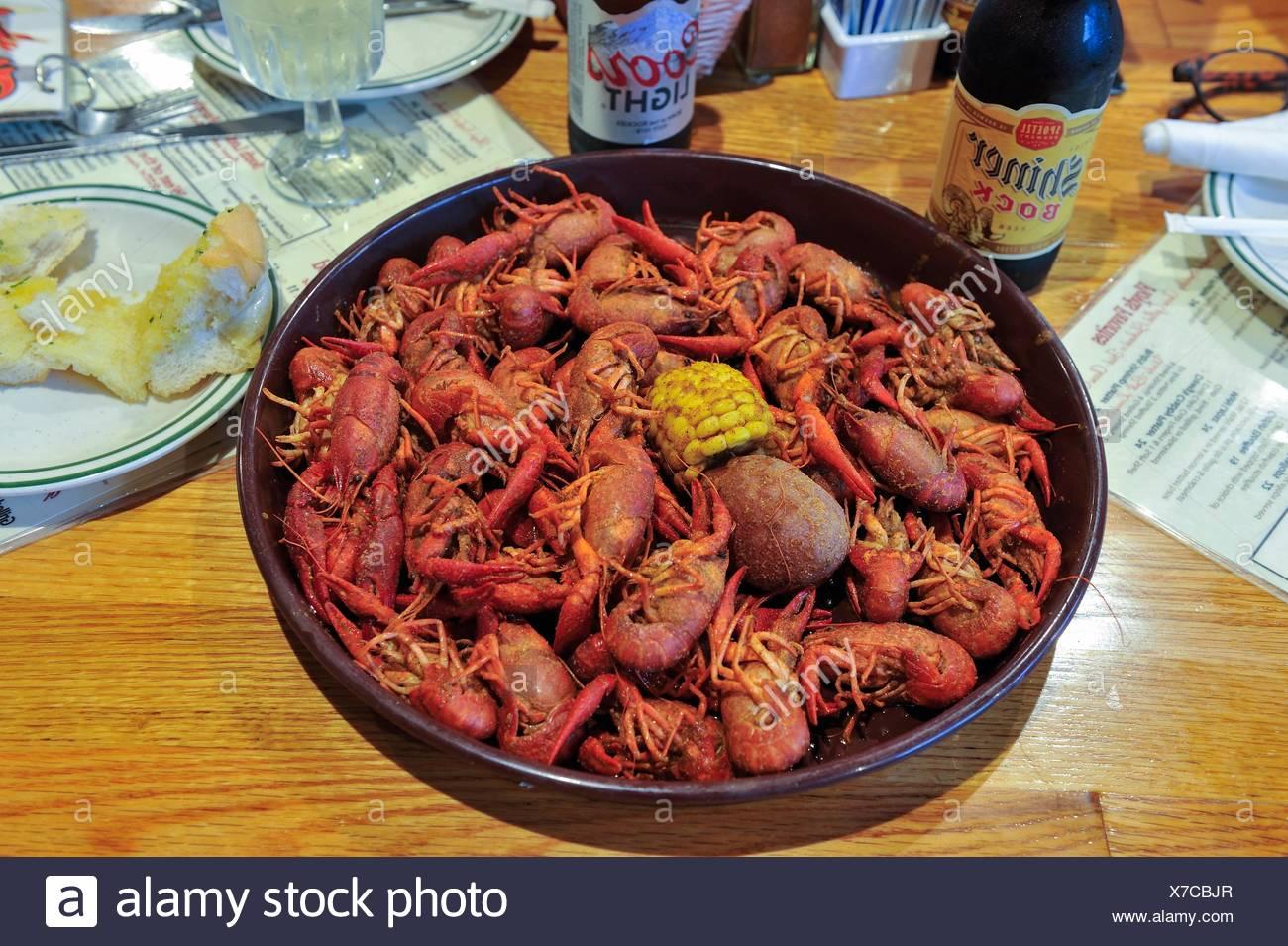 Crayfish Served At The Floyds Cajun Seafood Restaurant Beaumont