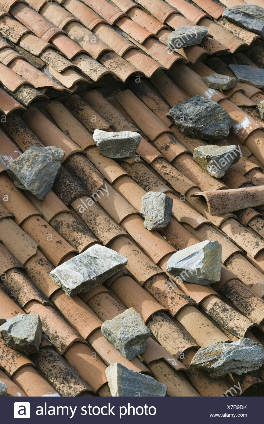 brick roof stones detail house house roof roof roof tiles roof covering bricks old lichens weathers loading old loading roof - Roof Covering