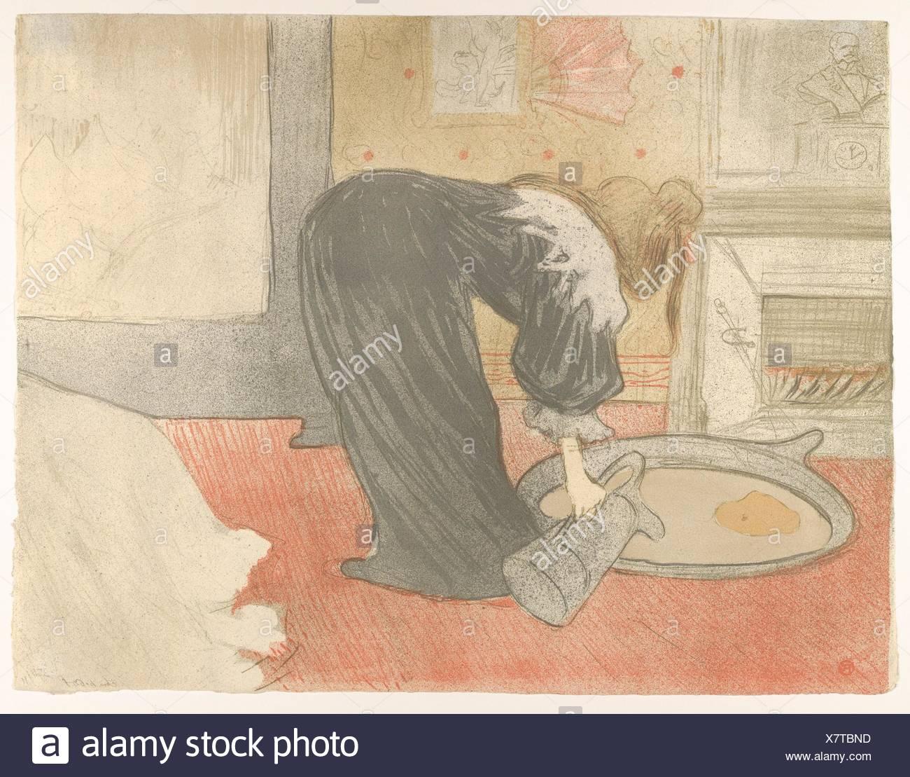 Filling a Tub. Series/Portfolio: Elles; Artist: Henri de Toulouse ...