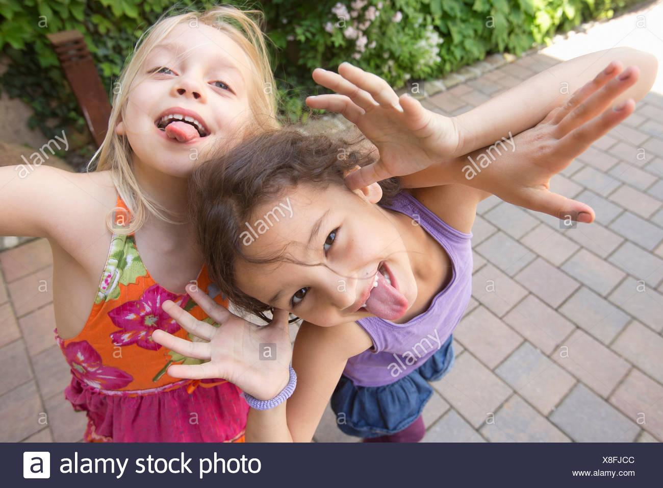 Two girls facial