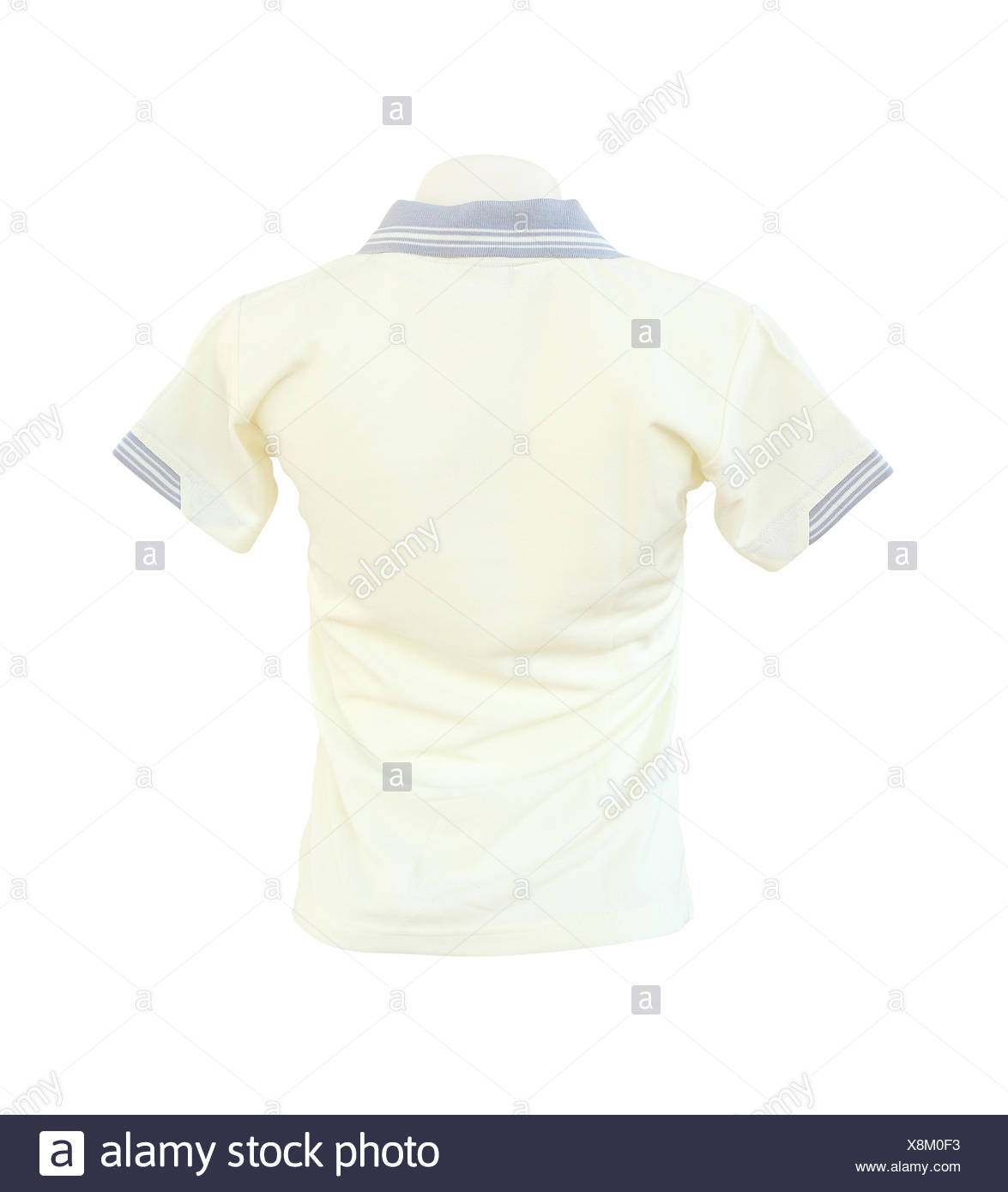 female shirt template on the mannequin on white background stock