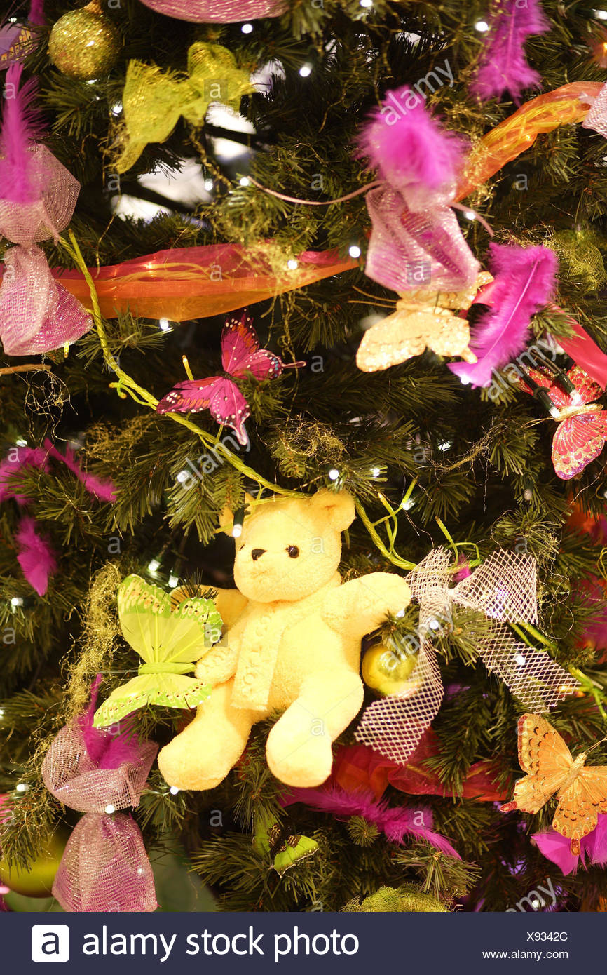 christmas tree detail tree jewellery brightly christmas decoration christmas decoration christmas tree christmas tree decorated little teddy bears - Orange Coloured Christmas Tree Decorations