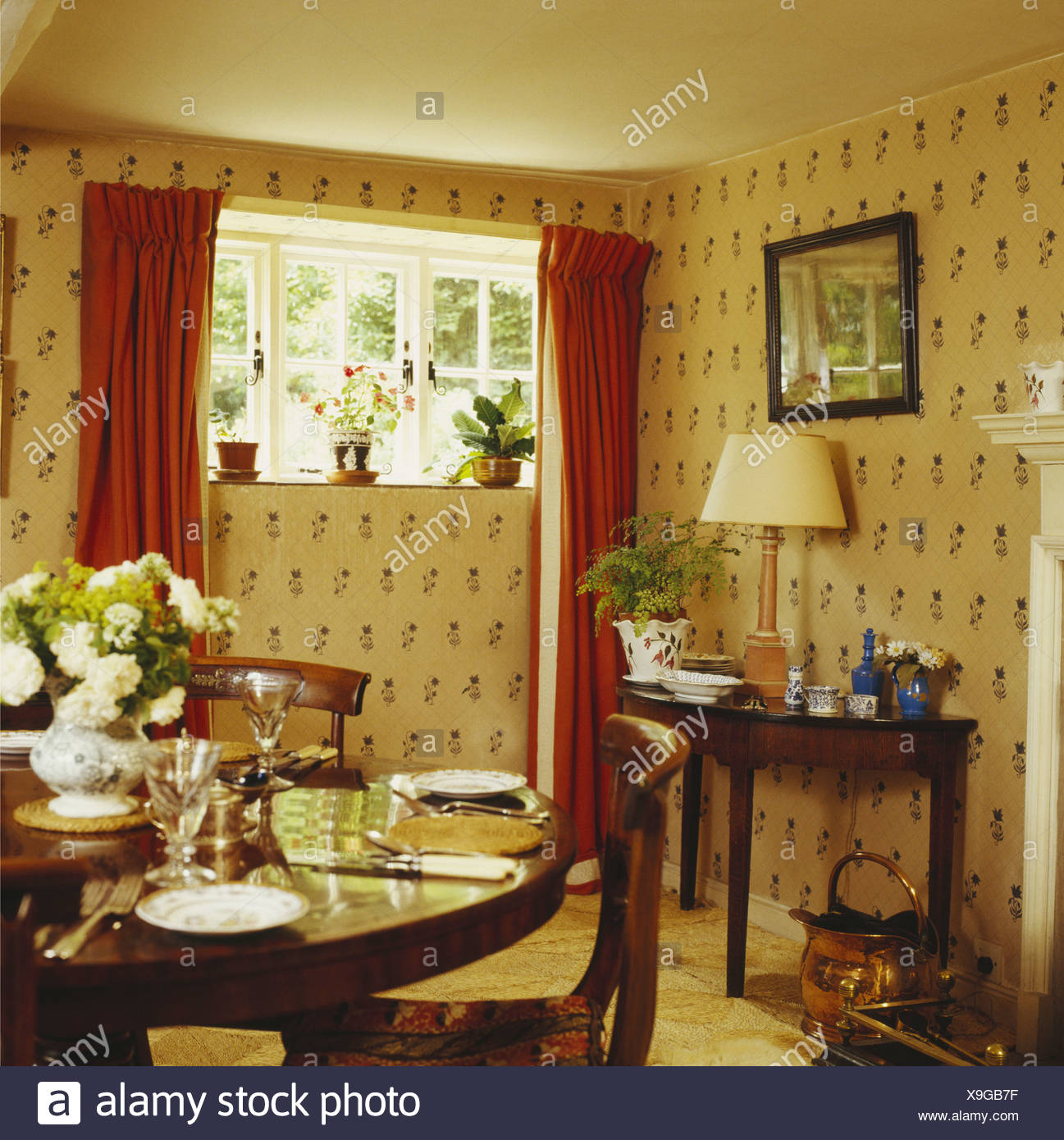 Red Dining Room Curtains Of New Ideas For Windows Chic