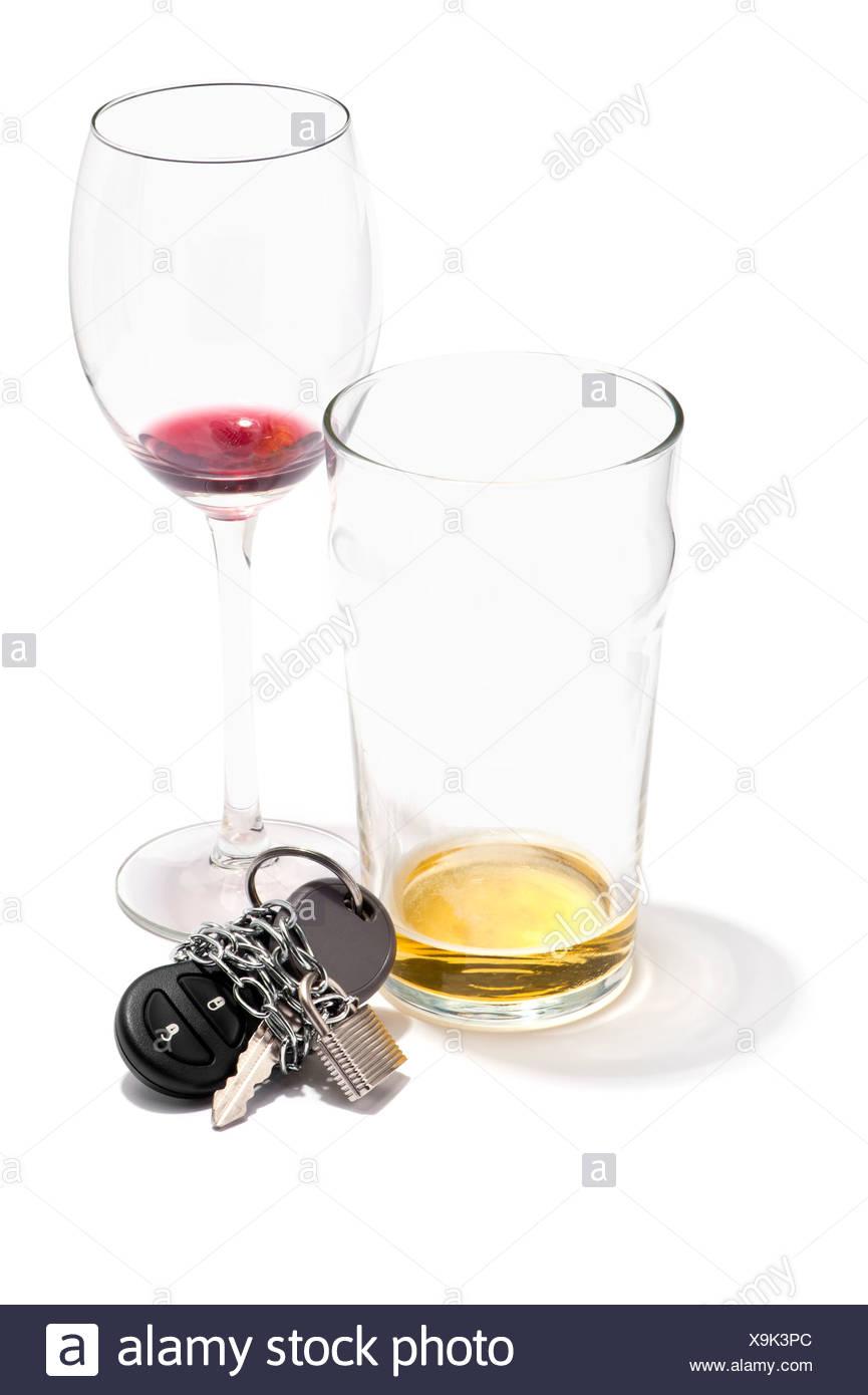 Glasses Of White Wine Driving In Australia